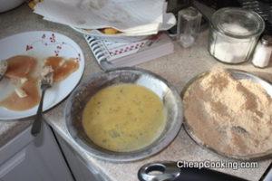 making chicken cutlets