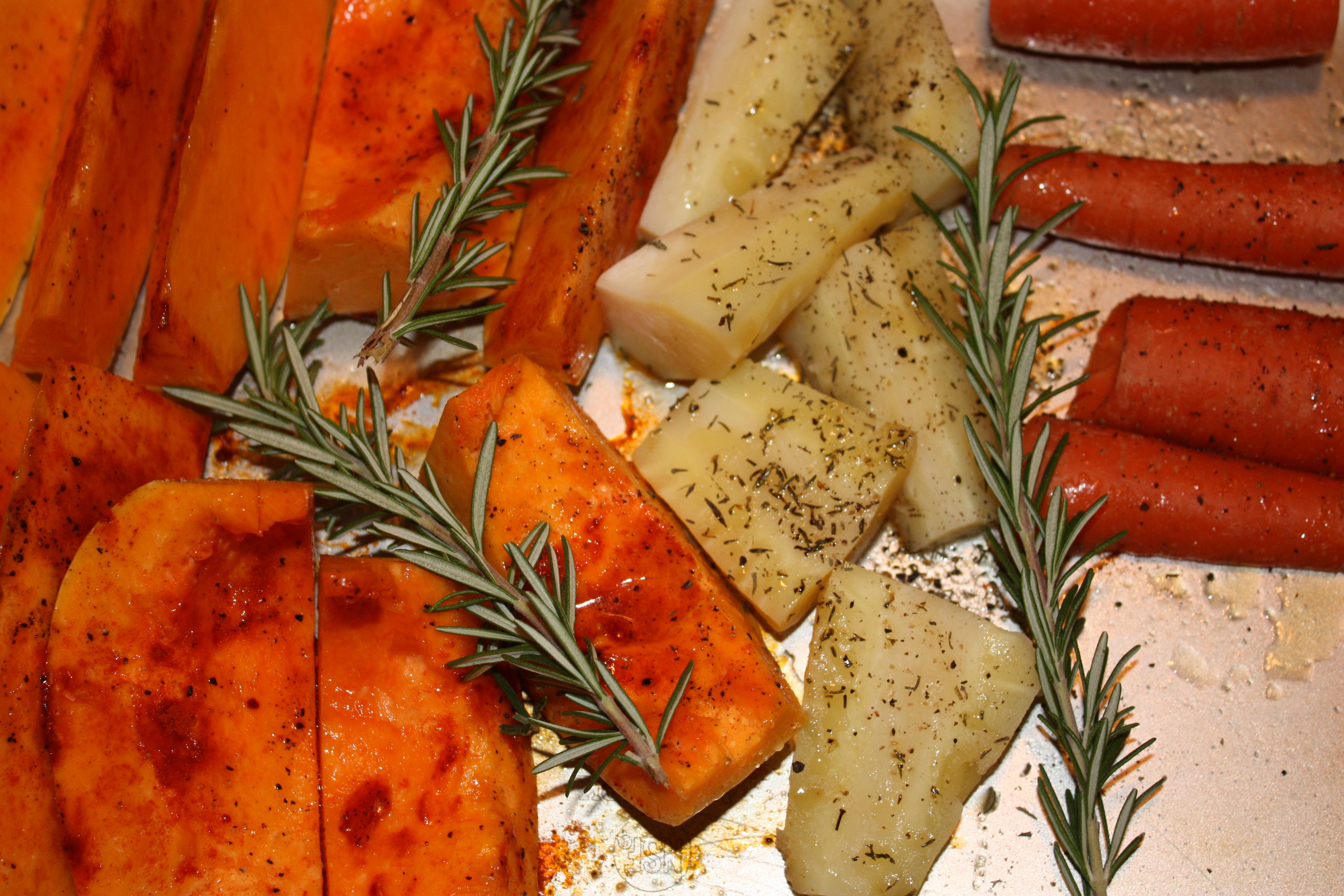 Roast Potatoes, Parsnips and Butternut Squash