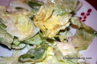 Iceberg Lettuce with a Simple Cream Dressing