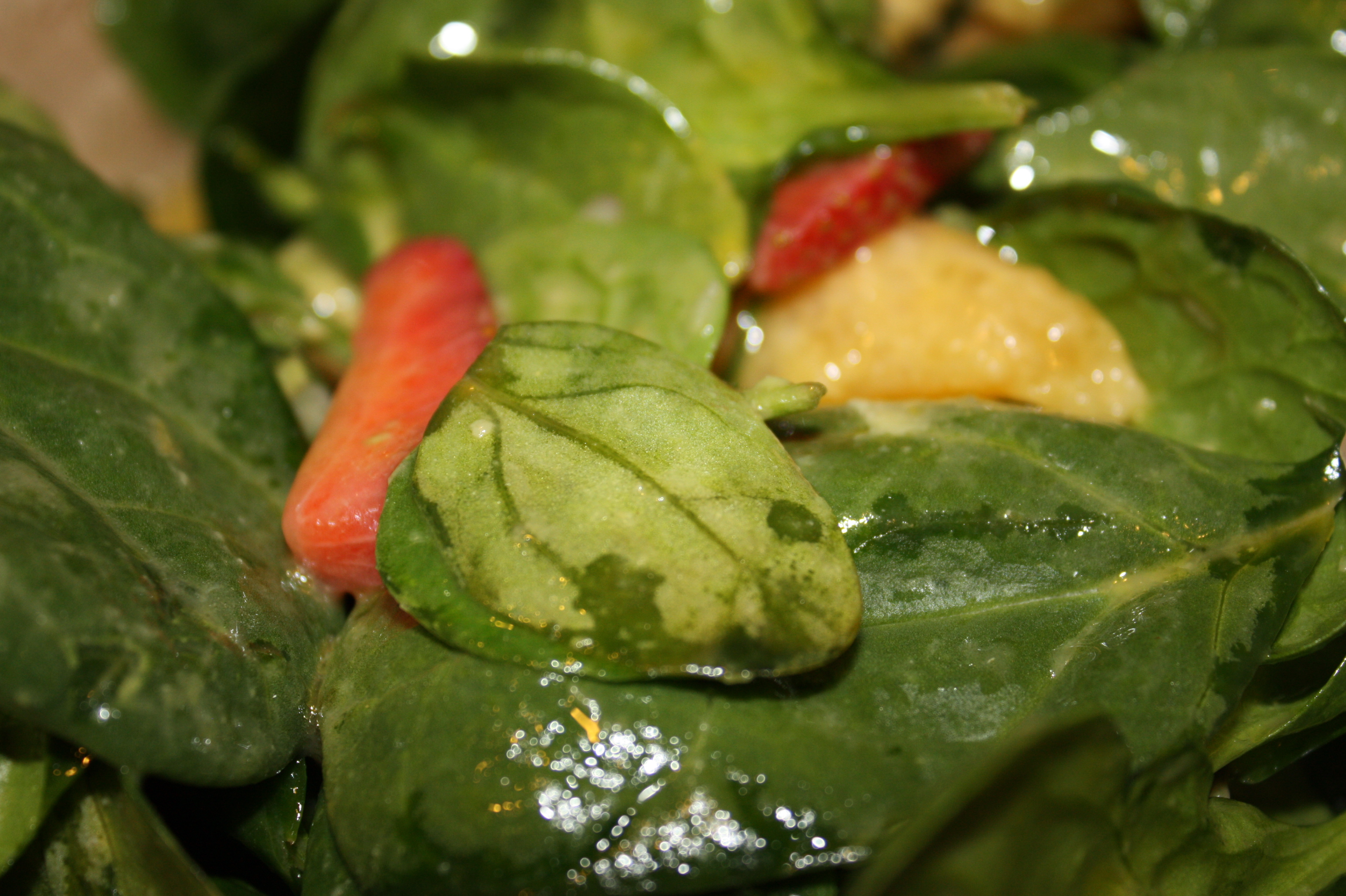 spinach salad with orange dressing