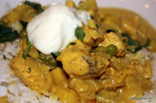 chicken curry with apples