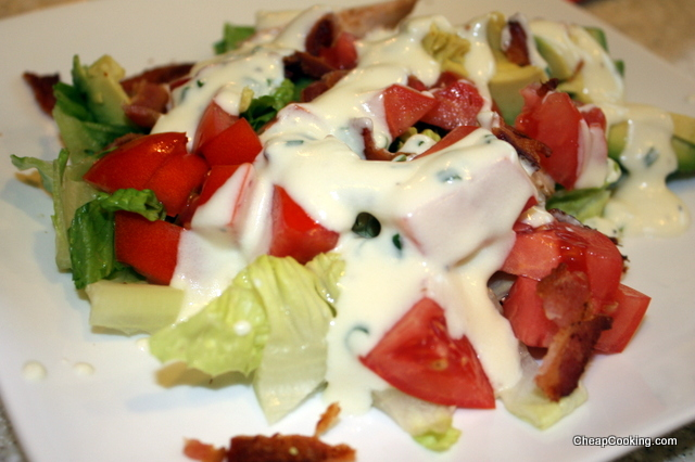 BLT Chicken Salad with Easy Ranch Dressing