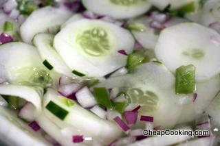 Quick Marinated Cucumber Salad