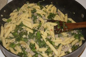 broccoli rabe, sausage and pasta