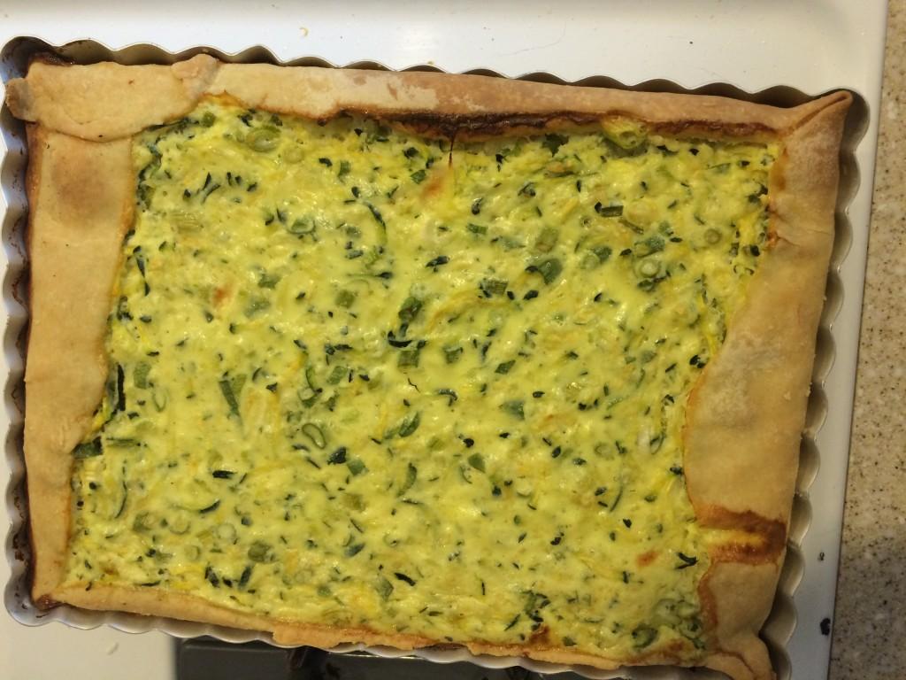 Lidia's Zucchini and Rice Tart