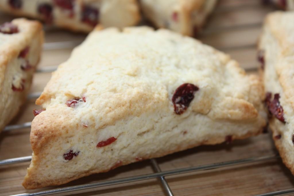 cream scones with cranberries