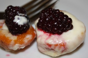 Broiled Apricots with Blackberries & Mascarpone