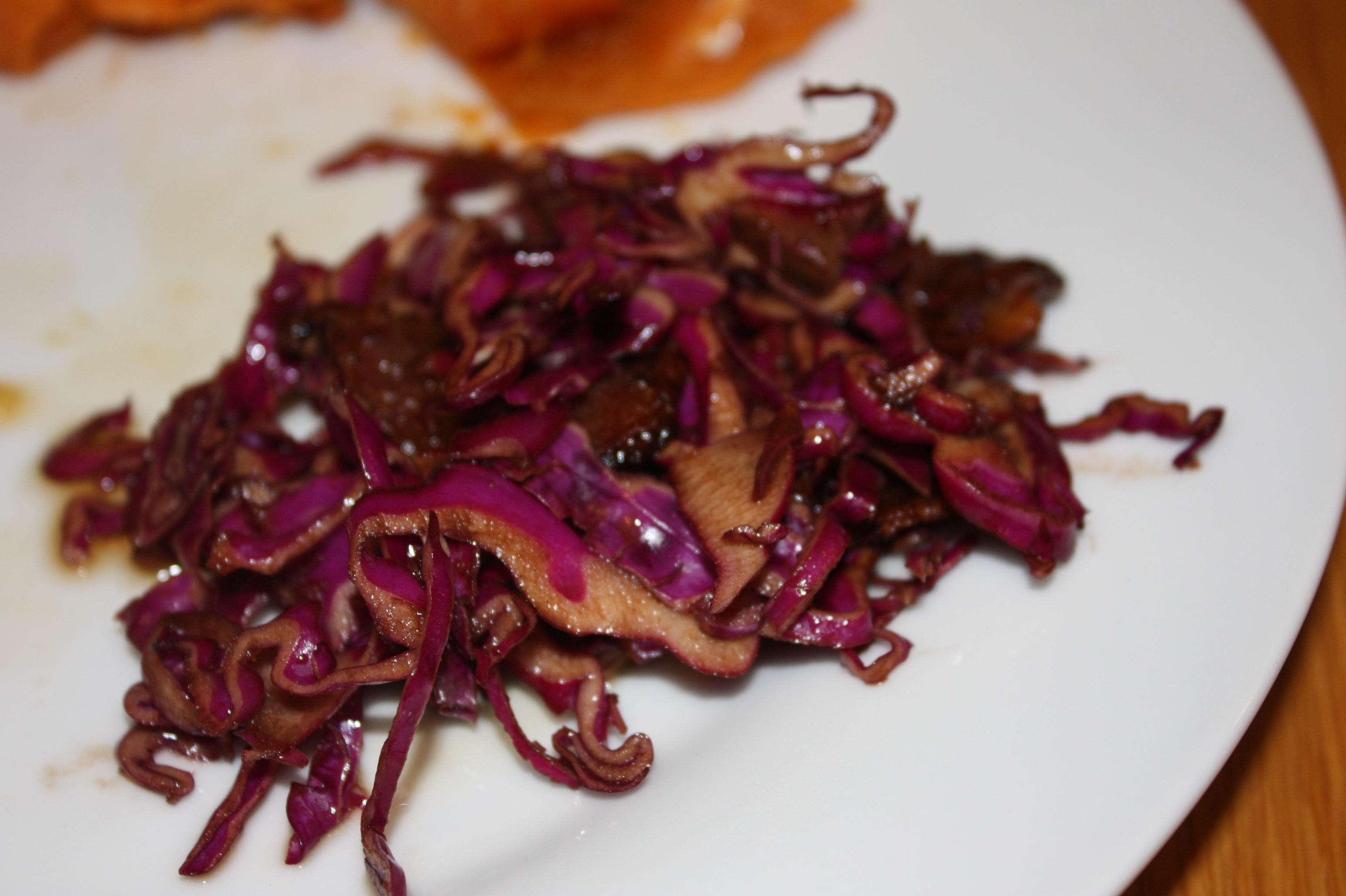 Red Cabbage and Bacon Salad