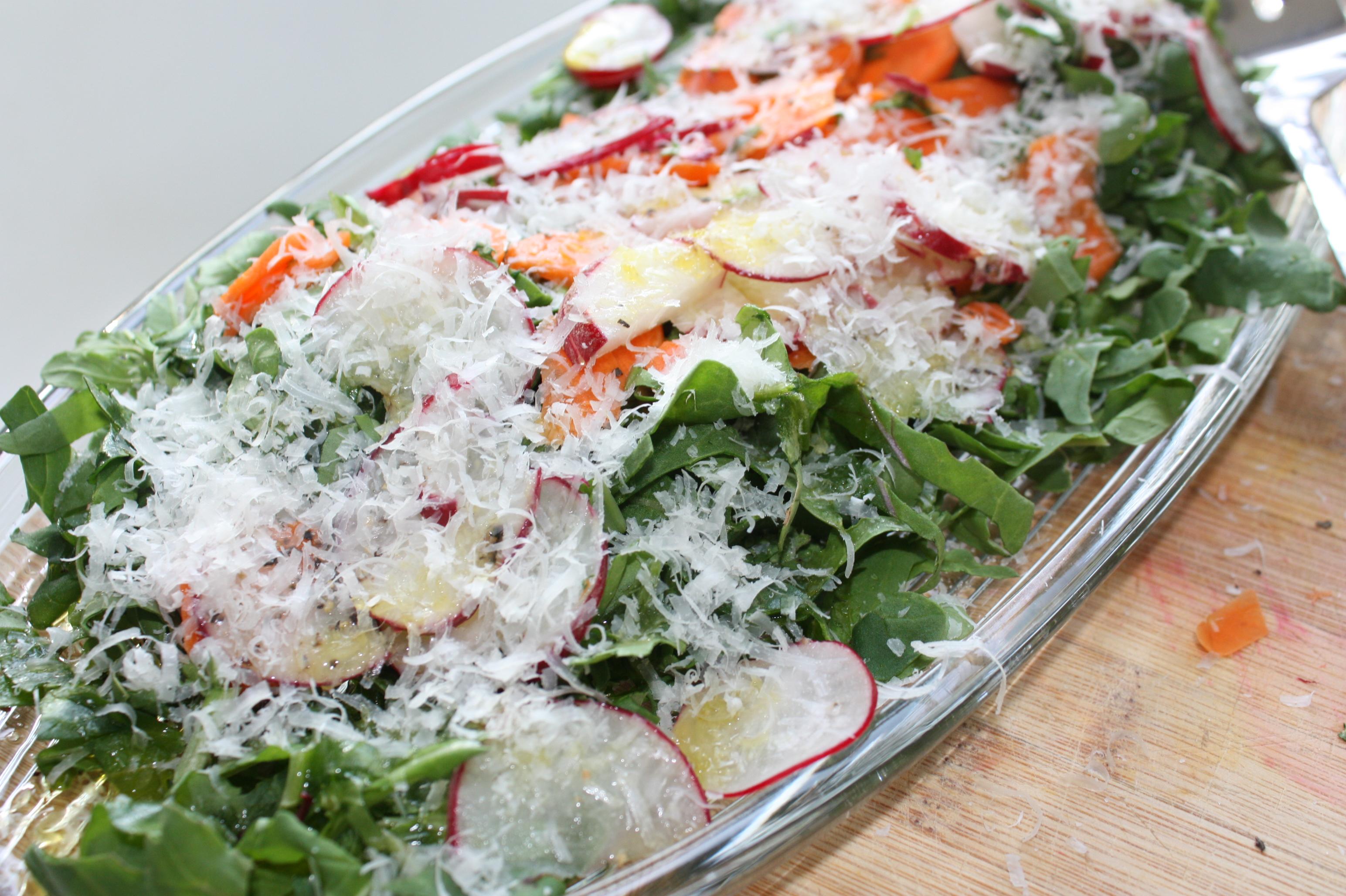 Arugula, Radish & Carrot Salad