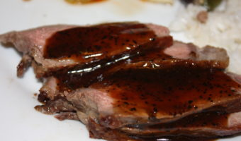 Rib Eye with Ms. Kwok's Black Pepper Sauce
