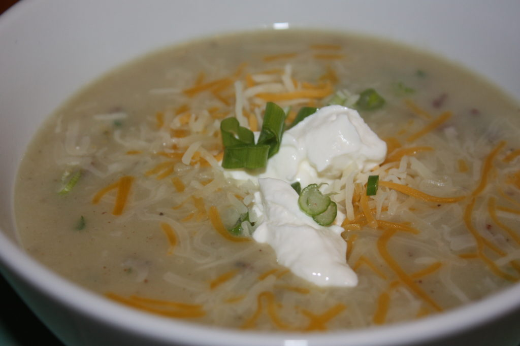 buttermilk potato soup with bacon and jalapenos