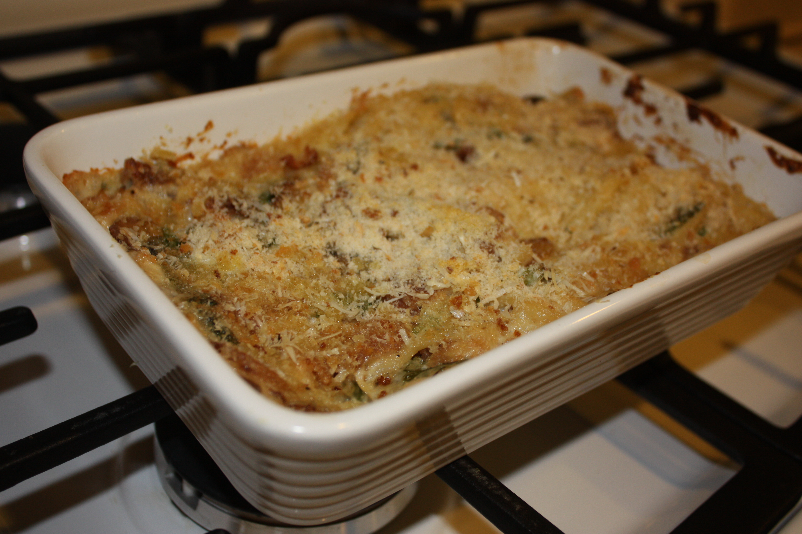 Chicken Tetrazzini from Leftover Chicken Cutlets