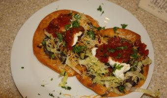 Zucchini and Corn Chalupas (aka Tostadas)