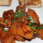 pork, potato, pepper and apple curry