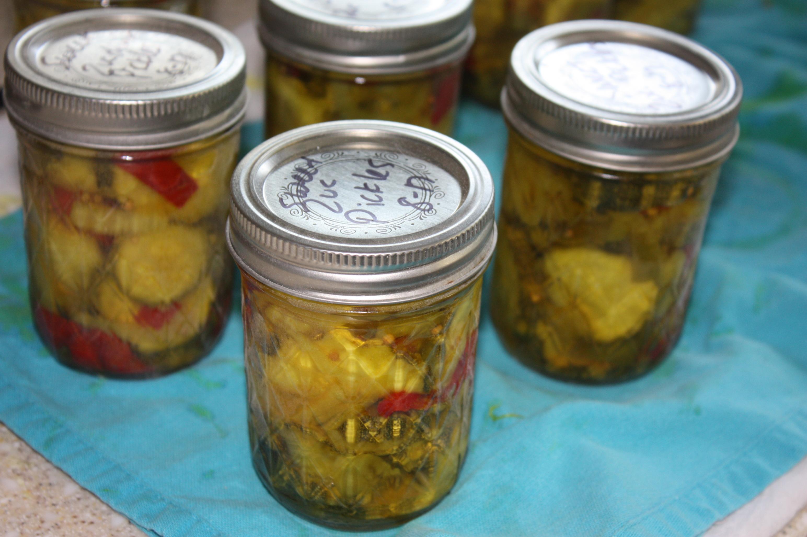 Sweet Zucchini Pickles