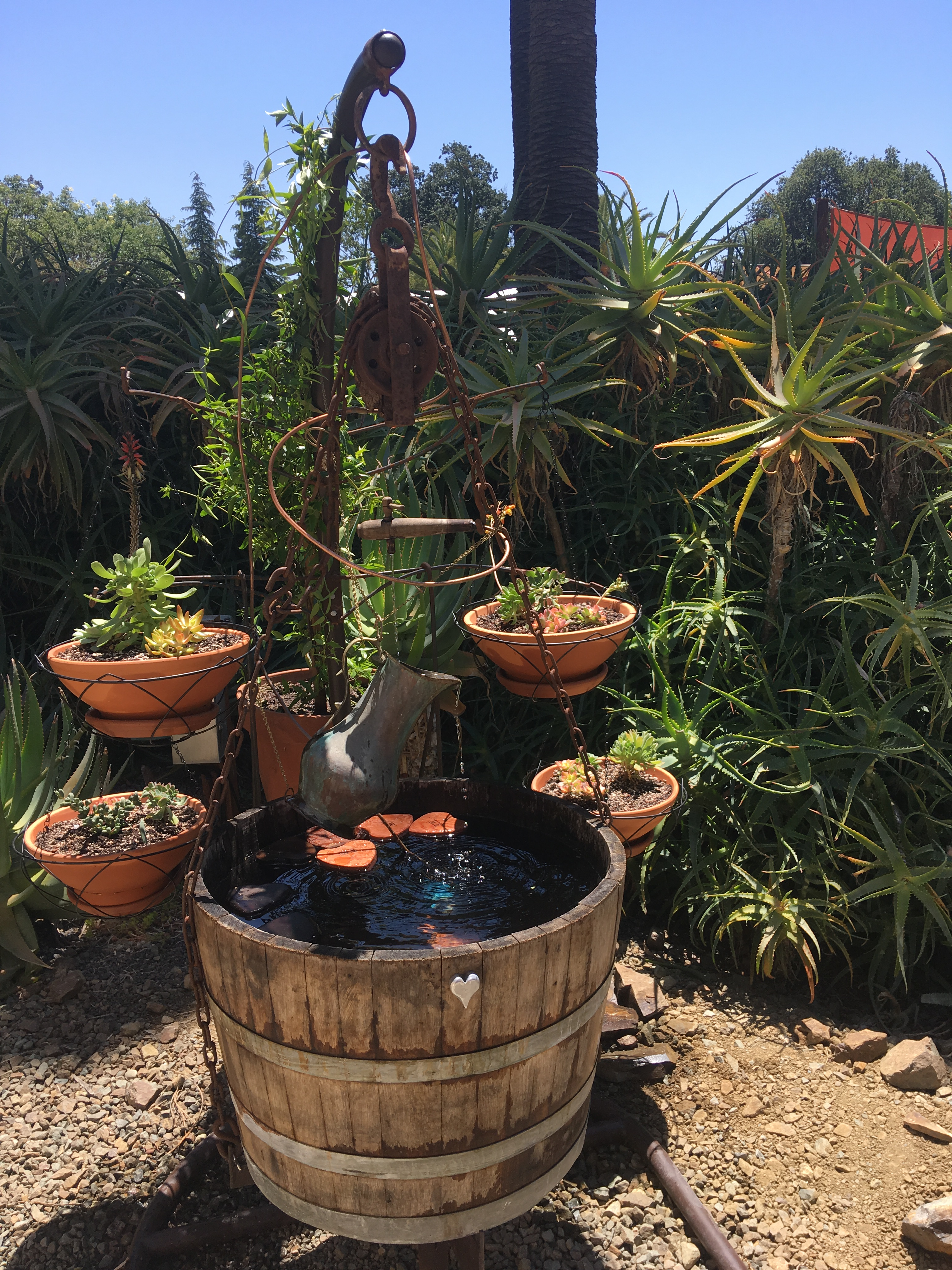 Sculptures and Fountain Installed at The Ruth Bancroft Garden