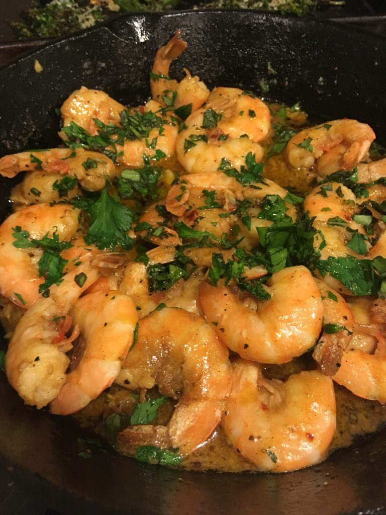 Shrimp with Butter and Garlic