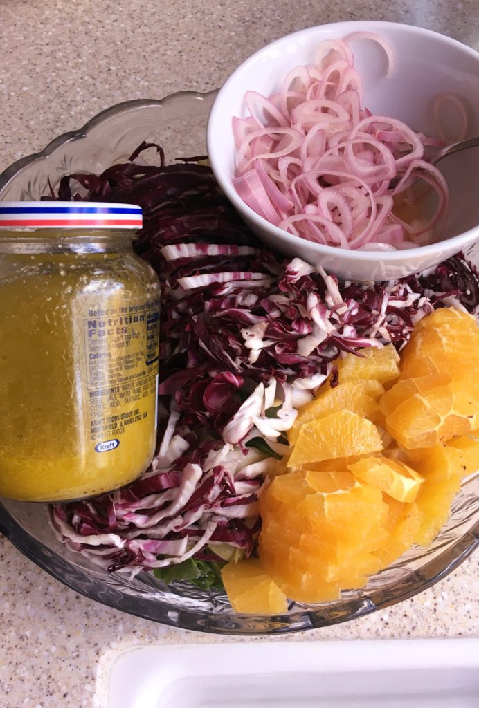 ina garten's tricolor salad packed to go