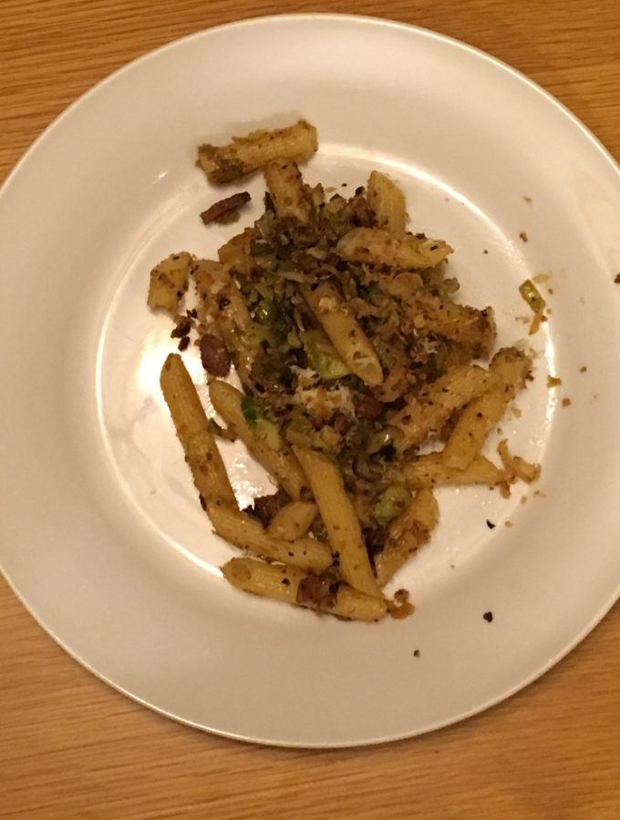 Penne with Brussels Sprouts