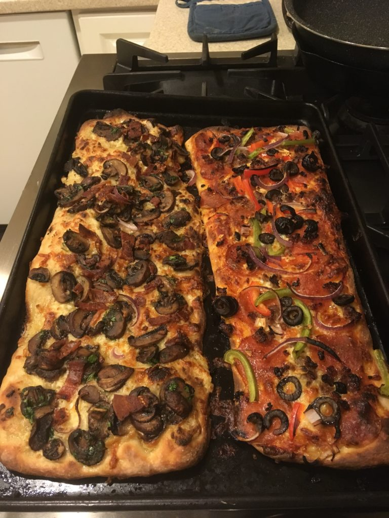 mushroom pizza and others