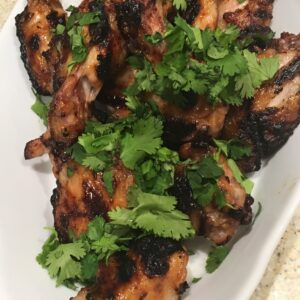 thai-glazed grilled chicken wings