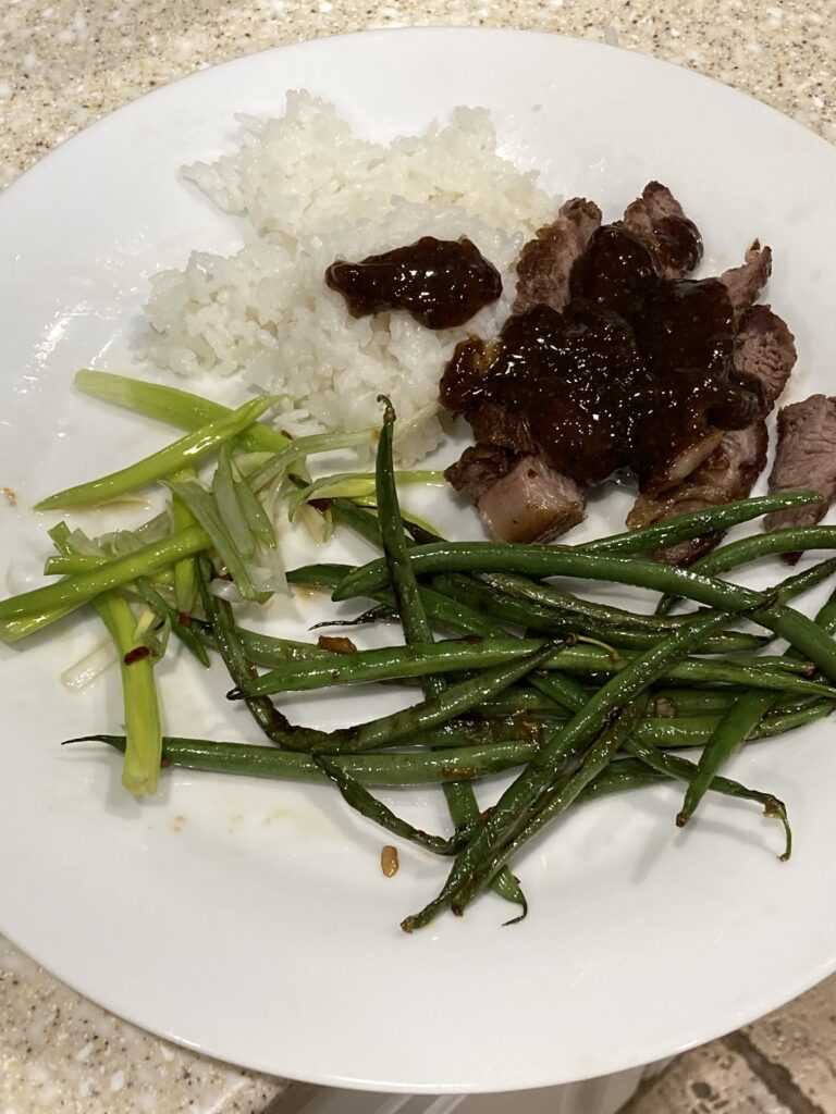 Mrs Kwok's rib eye with black pepper sauce